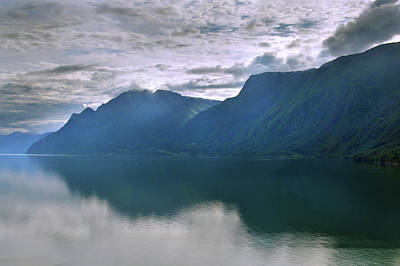 Photograph - Reflections On Sognefjorden by Terence Davis