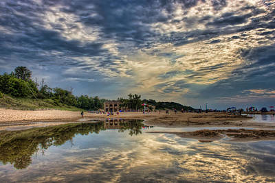 Reflections On The Beach Print by Scott Wood