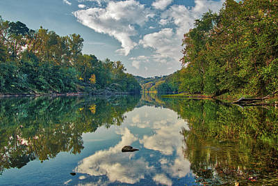 Photograph - Reflections On The Meramec by Harold Rau
