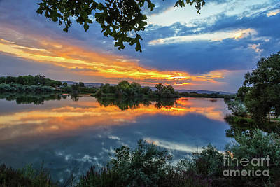 Photograph - Reflections  On The Snake River by Robert Bales