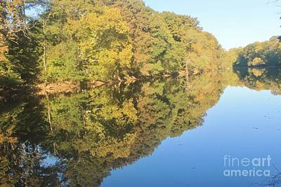 New Years Royalty Free Images - Reflections On The Tar River Royalty-Free Image by Tonya Hance
