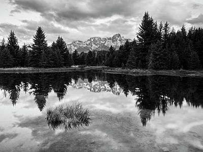 Photograph - Reflections On The Tetons by Jon Glaser