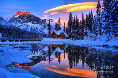 Photograph - Reflections Over Emerald Lake by Adam Jewell