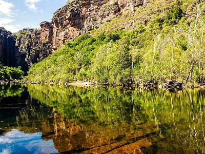 Photograph - Reflections Over Jim Jim Creek - Kakadu National Park, Australia by Lexa Harpell