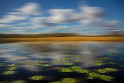 Photograph - Reflections Over The Marsh Dreamscape by Debra and Dave Vanderlaan