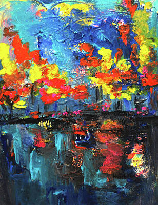 Painting - Reflections Series - Fall by Haleh Mahbod