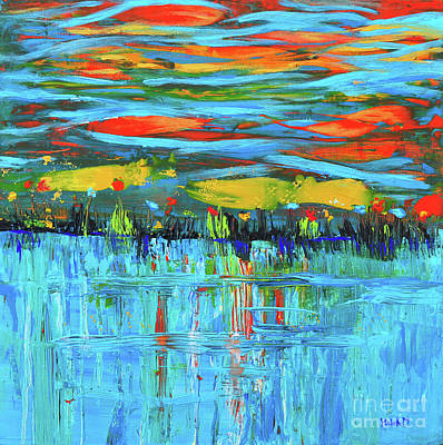 Photograph - Reflections Sky And Landscape Abstract by Haleh Mahbod