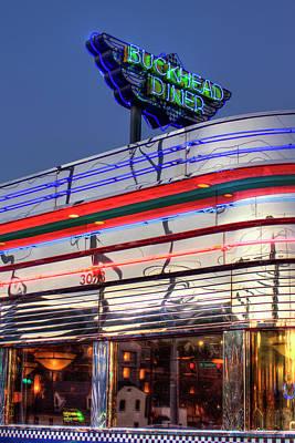 Photograph - Reflections The Buckhead Diner Atlanta Buckhead Art by Reid Callaway