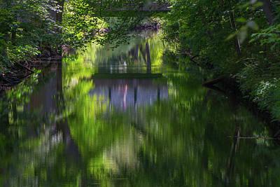 Reflections Under Blackstone Bridge Art Print