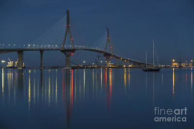Photograph - Reflections Under The Bridge Cadiz Spain by Pablo Avanzini