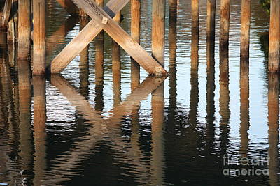 Reflections Under The Dock Art Print by Carol Groenen