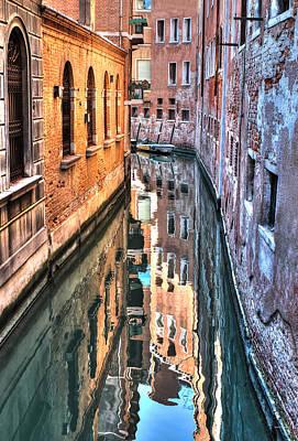 Photograph - Reflections Venice Italy by Tom Prendergast