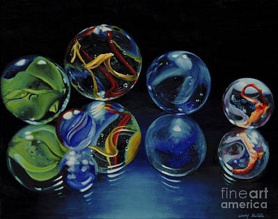 Glass Table Reflection Painting - Reflections by Wendy Galletta