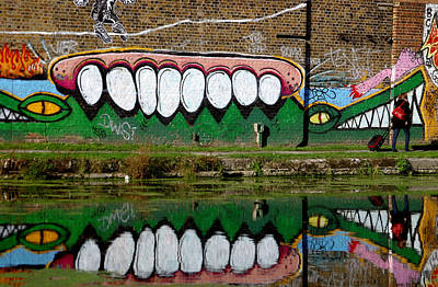 Reflective Canal 12 Art Print by Jez C Self