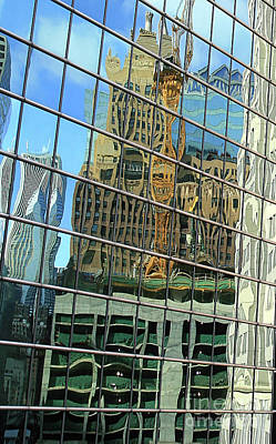 Photograph - Reflective Chicago by Paula Guttilla