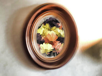 Digital Art - Reflective Flowers by Aliceann Carlton