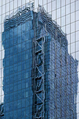 Photograph - Reflective Glass High Rise Architecture by Robert Ullmann