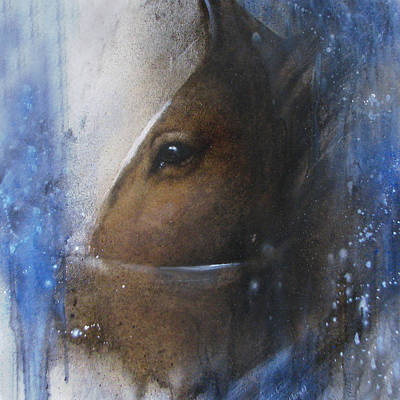Jackie Flaten Painting - Reflective Horse by Jackie Flaten