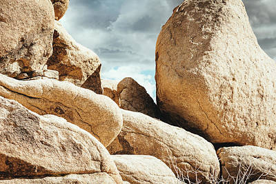 Photograph - Reflective Joshua Tree Rocks by Amyn Nasser