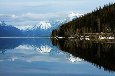 Photograph - Reflective Lake by Joshua Tree