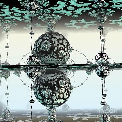 Digital Art - Reflective by Michelle H