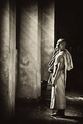 Photograph - Reflective Monk by Cameron Wood