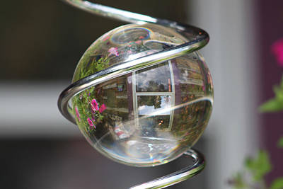 Mauverneen Blevins Photograph - Reflective Orb by Mauverneen Blevins