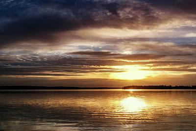Photograph - Reflective Sunset by Doug Long
