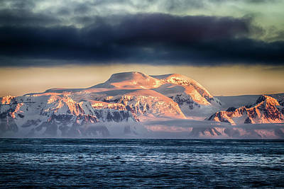 Photograph - Reflective Sunset In Antarctica by John Haldane