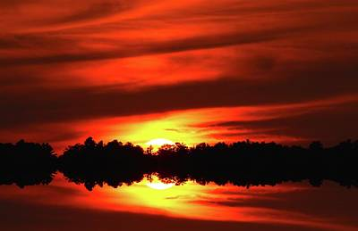 Digital Art - Reflective Sunset  by Lyle Crump