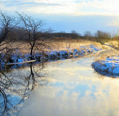 Photograph - Reflective Winter by Bonfire Photography