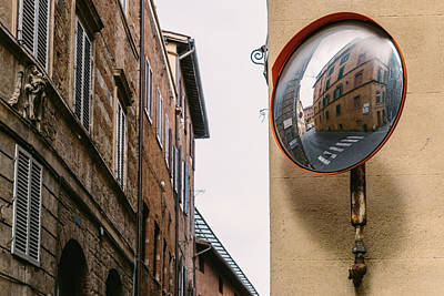 Photograph - Reflector On Rustic Streetcorner by Alexandre Rotenberg