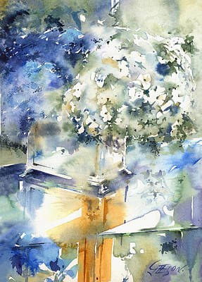 Wet Into Wet Watercolor Painting - Reflexed Beauty by Andrew Geeson