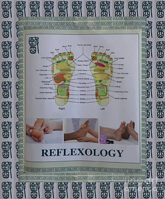 Photograph - Reflexology Health Body Mind Pressure Points Chinese Naturopathy Posters Pillows Curtains Duvet Tote by Navin Joshi