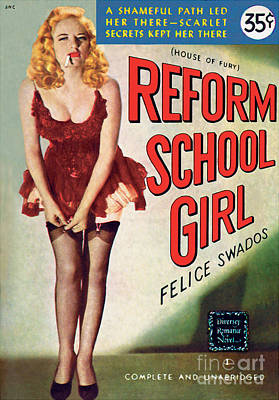 Print featuring the painting Reform School Girl by Photo Cover