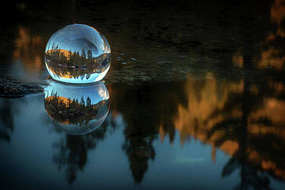 Photograph - Refraction And Reflection Meet by Marnie Patchett