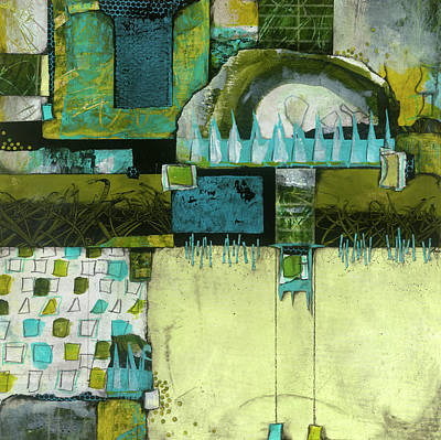 Squares Mixed Media - Refrain by Laura Lein-Svencner