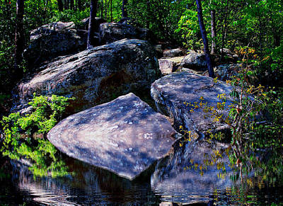 Refreshing Place On A Hot Day Art Print