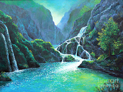 Painting - Refreshing Streams by Lou Ann Bagnall