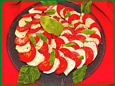 Brunch Digital Art - Refreshing Summer Salad by Barbara Zahno