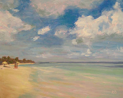 Painting - Refreshing - Tropical Beach Vacation by Robie Benve