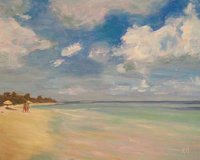 Refreshing - Tropical Beach Vacation Art Print by Robie Benve