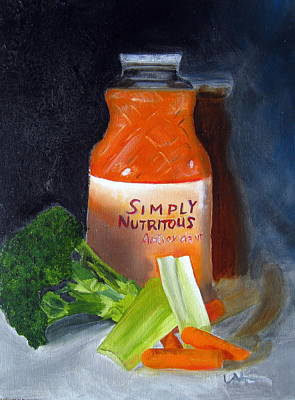 Painting - Refrigerator Items by LaVonne Hand