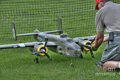 Radio Control Photograph - Refueling The Mitchell B - 25 by David Bearden