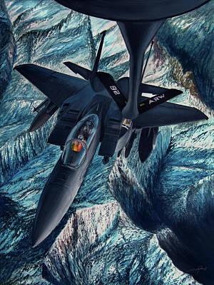 Warplane Painting - Refueling The Strike Eagle by Dale Jackson