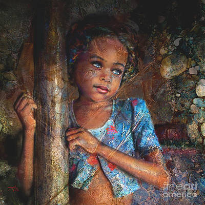 Refugee Girl Painting - Refugee by Angie Braun