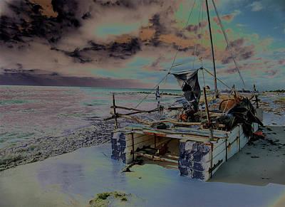 Photograph - Refugee Raft 1 by Susan Garrett