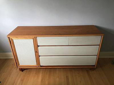 Mixed Media - Refurbished Mid-century Commode by Mario MJ Perron