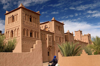 Morocco Photograph - Refurbished Towers Of The Ancient Heritage Site Kasbah Amerhidl  by Reimar Gaertner