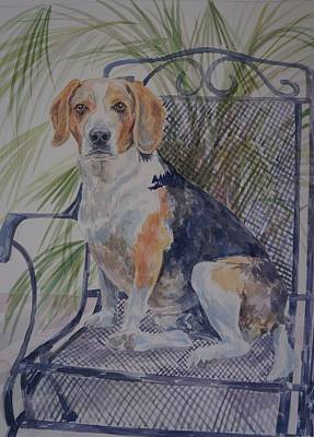 Painting - Regal Beagle by Gloria Turner